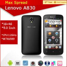 5.0'' touch screen handphone mtk6589 quad core 8mp lenovo a830