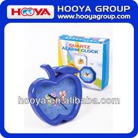 11.5*10.3*1cm plastic apple shape alarm table clock for child kids