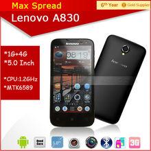 5.0'' dual sim 3g wifi gps mobile phone lenovo a830 made in alibaba