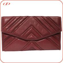 Flap closure leather ladies clutch bags