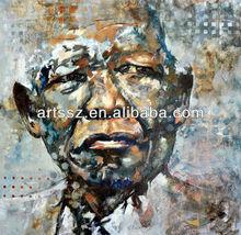 Stunning quality handmade Mandela painting portraits