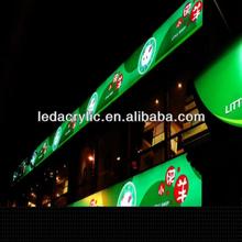 LED Backlit Outdoor Shop Front Signs Signboard Design LED Signboard