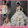 dl698 nuova versione una spalla avorio colore palla abito abiti da sposa kleinfeld