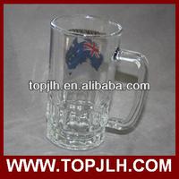22OZ glass beer mug with sublimation image