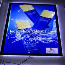 Black Frame LED Magnetic Light Box Light Box Pictures Edge Lit Acrylic Sign