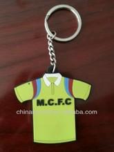T-shirt shaped soft PVC key chain, promotion key chain