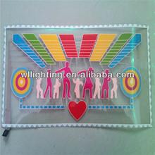 50x25cm EL flashing car sticker on promotion -wlighting