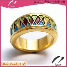 Enamel fashion egyptian wedding rings