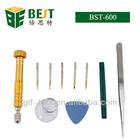 Best-600 for iphone 4 repair opening tools kit set 5 in 1 screwdriver with tweezers