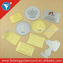 Custom cut out brass china best sale metallized metal label / rectangle metal label / waterproof adhesive metal label