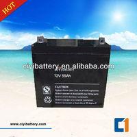 Long Life Gel Battery Solar Power Storage Battery 12V 55AH