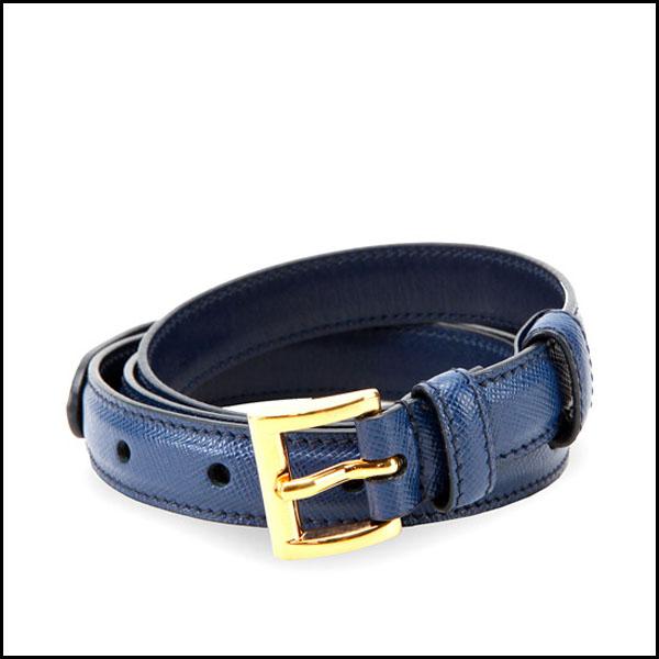 Blue Flora Western Bonded Leather belt women