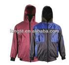 Fashion men's paka jacket ,raincoat ,100% windproof & waterproof rain parka jacket for wholesale and OEM service
