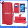 Crocodile Pattern Wallet Style Magnetic Flip Stand Leather Case for Samsung I9500 Galaxy S4 I9505 I9508 with Slots