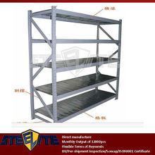 high quality 4-tier steel adjustable shelving/middle duty 4 layers workshop storage reinforced metal grey rack