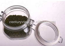 food grade rubber seal clip lid clear glass jars with lid