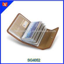 Card pocket leather credit card case