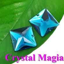 beautiful blue rhinestone sew on fabric crystal stone for dresses
