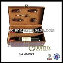 Antique Leather Wine Case Wine Box Wine Container Wholesale(SGS&BV)