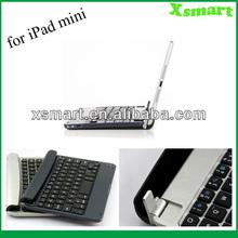 2013 Hot!!! For Apple iPad mini New Arrival Aluminum Bluetooth Wireless Keyboard Case Cover