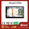 New Arrivals!!!! 5 Inch TFT LCD Touch Screen Car Radar Detector GPS Navigator AVIN 4GB Bluetooth MP3 FM HD Video Media