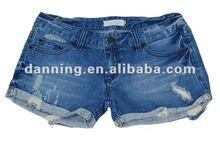 ladies fashion cuff up denim hot shorts