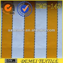 textile tropical print yellow white stripe fabric