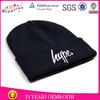 Embroidery logo beanies hats /winter knitted black ski mask hat knitting pattern