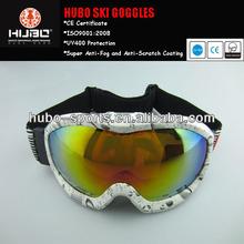 flexible frame anti-fog ski and snowboard goggles