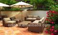 Sofá de vime ao ar livre mobiliário resina mobília ao ar livre barato loja de móveis