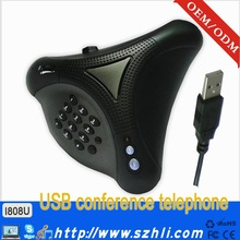 Noise Reduction Conference Phone i808U Conference Voip Phone With Echo Eliminate Chip USB VoIP for Skype USB Conference Phone
