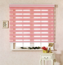 Double layer Polyester Zebra day and night Window Blinds
