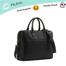 The newest high quality full leather black Laptop Bag for Men 2014-HB-192