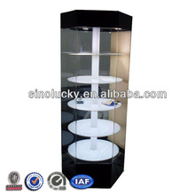 Acrylic Rotating Cigarette Display Cabinet,Tiered Tobacco Display Shelf