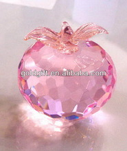 Fashionable discount crystal apple christmas decorations
