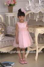 NEW ARRIVAL !2014 new fashion summer princess pink kids fancy dress photos