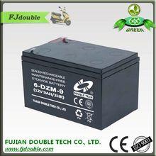 6-DZM-9 sealed lead acid battery 12v exide 9ah electric vehicles battery