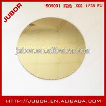 gold round cardboard cake circles scalloped edge