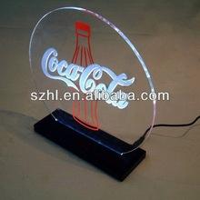 Logo acrylic led stand display
