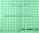 3D architectural mini plastic model lighting/HO N O Z OO TT G scale