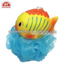 China supplier plastic baby fish mesh bath ball