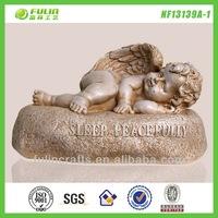 Stone Sleeping Cupid Angel Garden Resin Baby Figurines