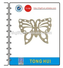 Metal bookmarks with butterfly design