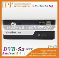 ViVobox S5 dvb-s2 sks receivr with android 4.0 tv box hd media receiver
