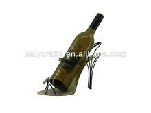 fashion shoe metal wine rack decorative wine bottle holder