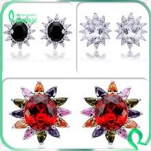New Fashion Design Earring With Shiny Zircon Stone Big Stud Earring