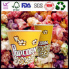 24/32/46/64/70/85oz Take away custom printed popcorn paper tubs with lids made in CN