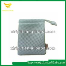 Small Drawstring Nylon Mesh Gift Bag with Cotton Lining