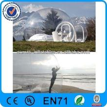 Casual e conveniente limpar bolha inflável barraca de acampamento / inflável tenda bolha