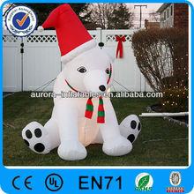 big cartoon inflatable Christmas polar bear